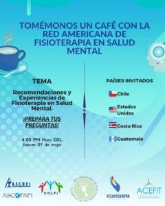 Webinar 7 Mayo | Recomendaciones y experiencias de fisioterapia en salud mental